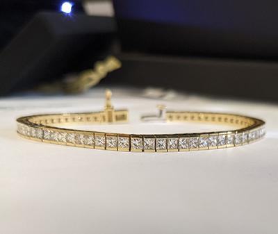 Princess diamonds Tennis Bracelet, 6.60 carats