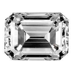 Picture of 1.01 Emerald natural diamond F VS2 Ideal-Cut