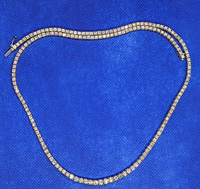 10 carats Tennis diamond necklace