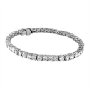 Picture of 6.90 carats IJ VS very-good to ideal-cut diamond tennis bracelet, still white face up