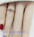 Picture of Petit half bezel engagement ring