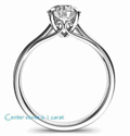 Picture of Ready to ship, 0.56 carat F SI1 Ideal-Cut, solitaire engagement ring, In 14k White Yellow and Rose gold.