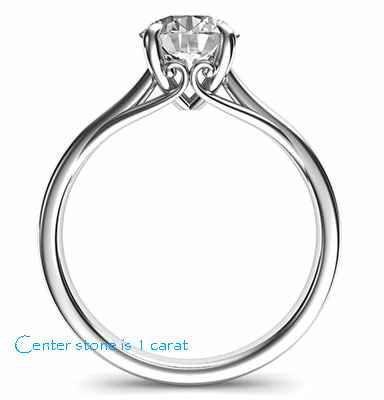 Ready to ship, 0.56 carat F SI1 Ideal-Cut, solitaire engagement ring, In 14k White Yellow and Rose gold.