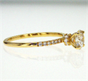 Picture of 0.81 Round H SI2, Ideal-Cut, with 0.20 cts sides, In 14k White Yellow or Rose gold.