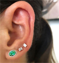 Picture of Two Oval shaped Emeralds 2.5 carat earrings