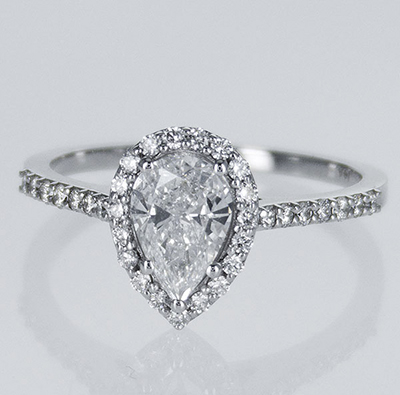 Ready to ship, 0.78 carat D SI1+0.30 sides, in 14k White Gold