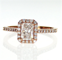 Picture of Ready to ship, 0.70 carat Radiant D VS2+0.30 sides, engagement ring,  in 14k Rose Gold