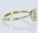 Foto Listo para enviar, diamante pera G VS2 de 1,08 quilates, anillo de compromiso, en oro amarillo de 14 k de