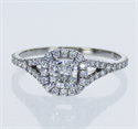 Picture of Ready to ship,  0.44 carat Cushion D VS2 +0.40 carat sides