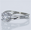 Picture of Ready to ship, 0.46 carat Round  D SI1 Solitaire engagement ring