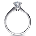 Picture of Ready to ship, 1.01 carat Princess diamond F VS2 engagement ring, in 14k White Gold