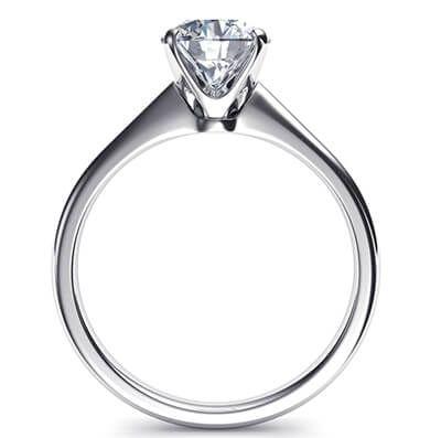 Ready to ship, 1.01 carat Princess diamond F VS2 engagement ring, in 14k White Gold