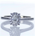 Picture of Ready to ship, 0.30 carat Oval diamond G VS1 +0.12 Carat sides engagement ring, in 14k White Gold