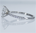Picture of Ready to ship, 0.64 carat Marquise diamond D SI2 +0.20 Carat sides engagement ring, in 14k White Gold