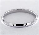 Foto Anillo de bodas con filo de cuchillo de 2 mm, ajuste cómodo de