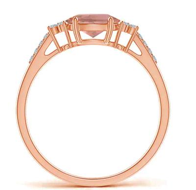 Morganite and diamonds engagement ring