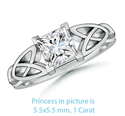 Picture of Celtic knot settings solitaire engagement ring for all Shapes