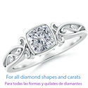 Picture of Celtic motifs solitaire engagement ring