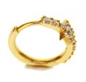 Foto Pendientes de aro de 13 mm diamantes de 0,13 quilates de