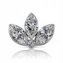 Foto Lotus martquise diamond earring 0.36 carats de