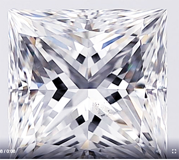 Picture of 1.26 Carats, Princess Diamond with Very Good Cut G VS2 Certified by GIA