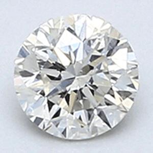 Foto 0.25 quilates, Diamante redondo con buen corte, H SI2 C.E, y certificado por EGS / EGL de