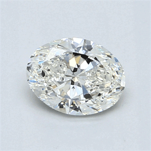 Picture of 0.90 Carats, Oval Diamond with  Cut, I Color, VS1 Clarity and Certified by GIA