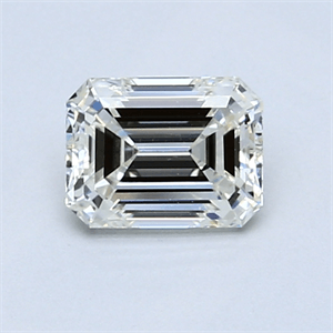 Picture of 0.84 Carats, Emerald Diamond with  Cut, G Color, VS1 Clarity and Certified by EGL