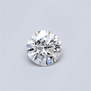Picture of 0.26 carat, Round diamond E color SI1, Very Good Cut and certified by EGS/EGL