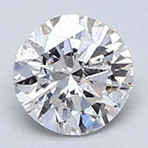 Foto 0.26 quilates, Diamante redondo color E SI1, Muy buen corte y certificado por EGS / EGL de