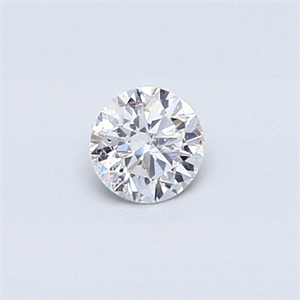 Picture of 0.25 carat, Round diamond F color SI2 and certified by EGS/EGL