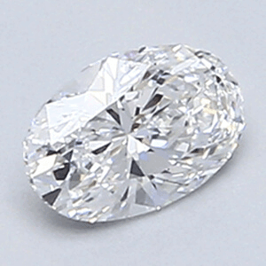 Picture of 0.33 carat Oval diamond, E color, VS1 clarity, very good cut