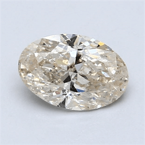 Picture of 1.01 Carats, Oval Diamond with  Cut, H Color, SI1 Clarity and Certified by EGL