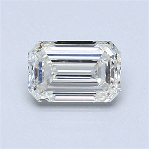 Picture of 0.85 Carats, Emerald Diamond with  Cut, F Color, VS2 Clarity and Certified by EGL