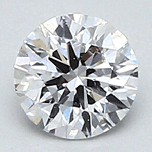 Picture of 0.30 D VS2 round natural diamond ideal cut and certified by CGL