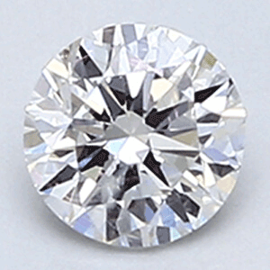 Picture of 0.30 E VS2 round natural diamond ideal cut and certified by CGL