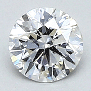 Picture of 0.31 E VS2 round natural diamond  ideal cut, certified by CGL