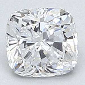 Picture of 0.35 Carats, Cushion natural diamond with Ideal Cut, D Color, VS1 Clarity and Certified By CGL