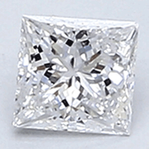 Picture of 0.20 Carats, Princess Diamond with Very Good Cut, E Color, VVS2 Clarity and Certified By CGL