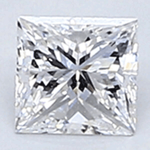 Picture of 0.22 Carats, Princess Diamond with Very Good Cut, E Color, VVS1 Clarity and Certified By CGL