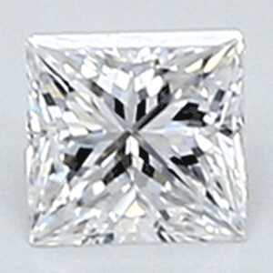 Picture of 0.22 Carats, Princess Diamond with Very Good Cut, E Color, VVS2 Clarity and Certified By CGL