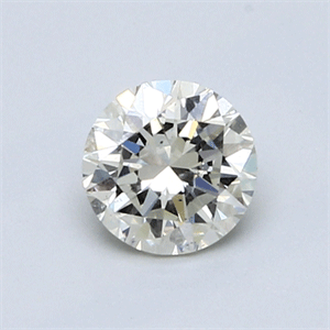 Picture of 0.70 Carats, Round Diamond with Very Good Cut, M Color, SI1 Clarity and Certified by GIA