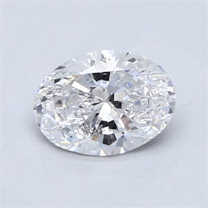 Picture of 0.80 Carats, Oval Diamond with  Cut, D Color, SI1 Clarity and Certified by GIA