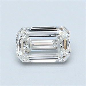 Picture of 0.79 Carats, Emerald Diamond with  Cut, F Color, VS1 Clarity and Certified by GIA