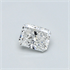 0.35 Carats, Radiant Diamond with Ideal Cut, F Color, VVS2 Clarity and Certified By Diamonds-USA, Stock 370122