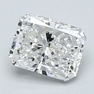 Picture of 0.35 Carats, Radiant Diamond with Ideal Cut, F Color, VVS2 Clarity and Certified By Diamonds-USA