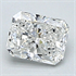 0.34 Carats, Radiant Diamond with Ideal Cut, F Color, VVS2 Clarity and Certified By CGL, Stock 370123
