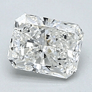 Picture of 0.34 Carats, Radiant Diamond with Ideal Cut, F Color, VVS2 Clarity and Certified By CGL