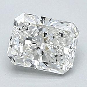 Foto 0.34 quilates, diamante radiante con corte ideal, color F, claridad VVS2 y certificado por CGL de