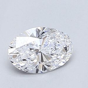 Picture of 0.37 Carats, Oval Diamond with Very Good Cut, D Color, VS2 Clarity and Certified By EGL.